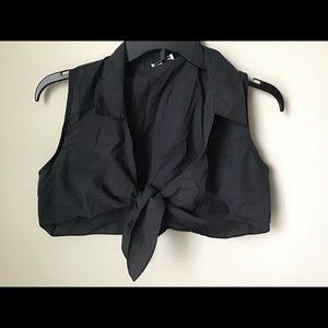 Charlotte russe crop blouse